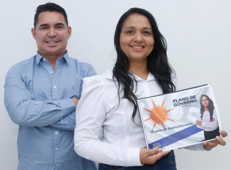 Vanda Monteiro e Gerson Alves, candidatos em Palmas pelo PSL