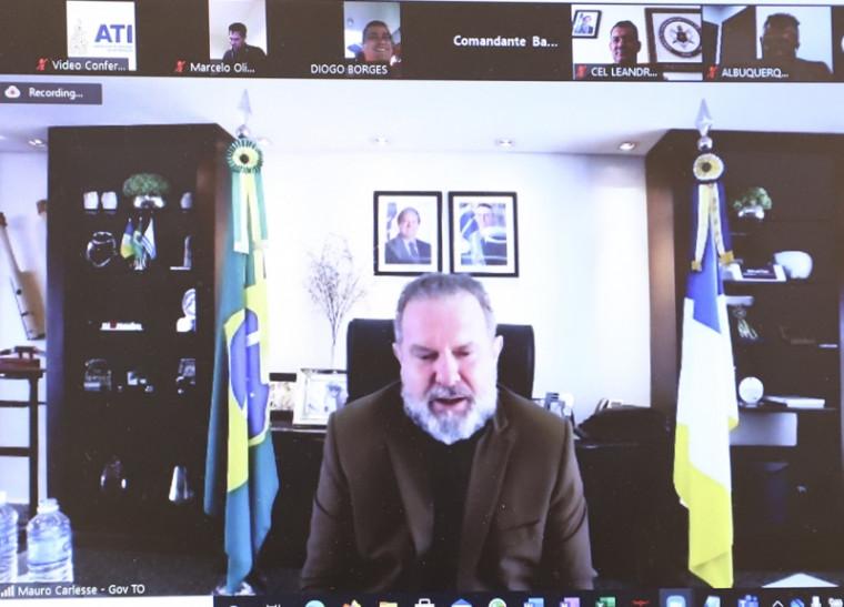 Governador Carlesse durante a reunião