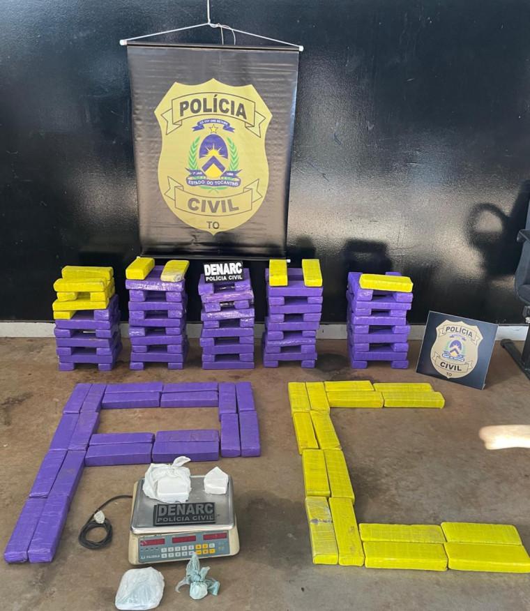 Droga estava armazenada em uma espécie de depósito em casa no Setor Vila Azul