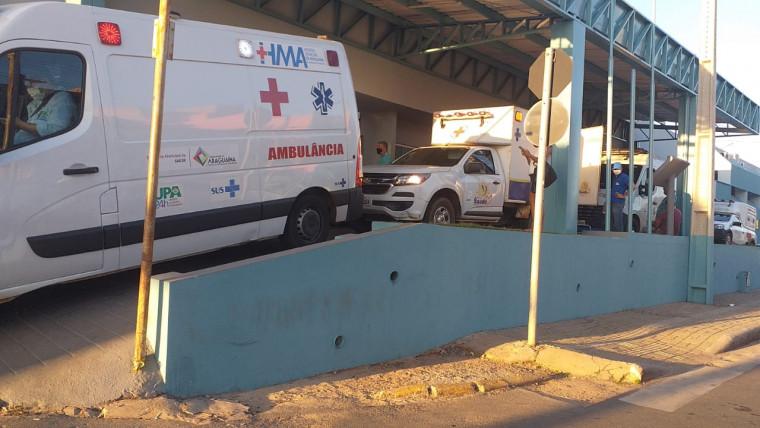 Imagem que mostra fila de ambulâncias no HRA viralizou na internet