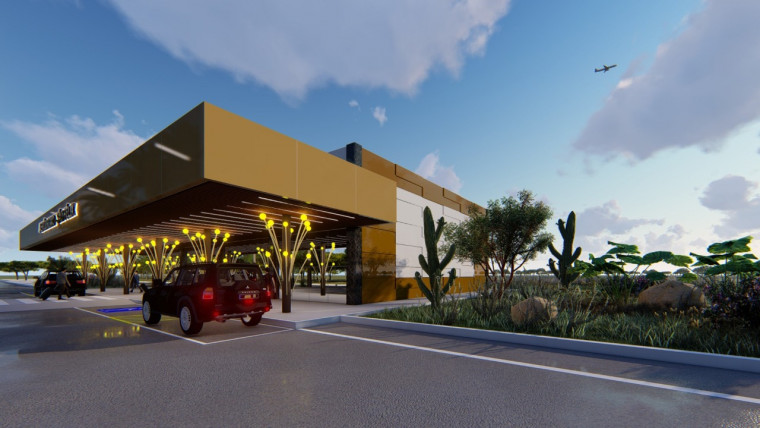 A infraestrutura deve contar com pista de pouso e decolagem, hangar, terminal de passageiros e oturos