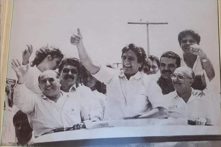 Fernando Collor ao lado de Siqueira na campanha presidencial de 1989