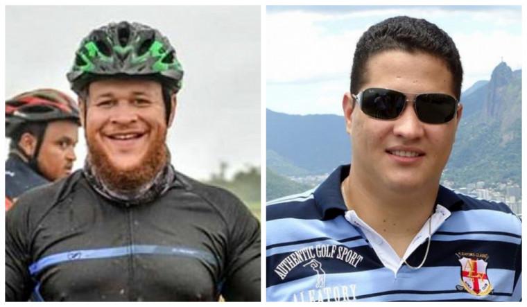 Thiago Krygsman [à esq.] e Thiago Batista [à dir.] são os ciclistas que morreram no acidente