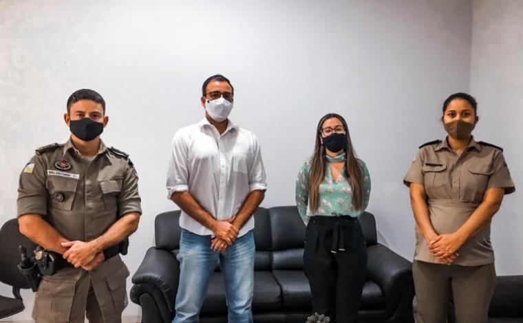 Representantes das polícias civil e militar de Araguaina