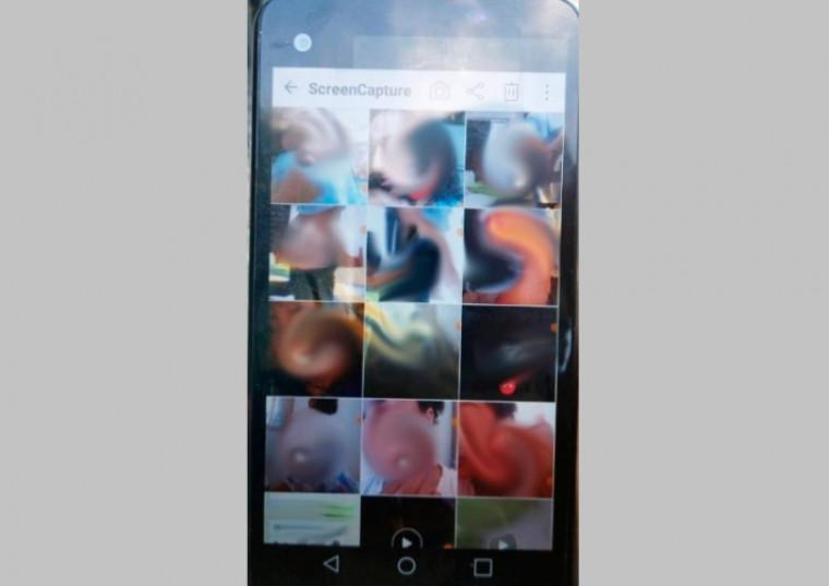 Imagem do celular apreendido na casa do jovem