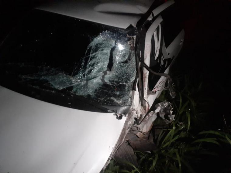 Veículo envolvido no acidente com vítimas fatais