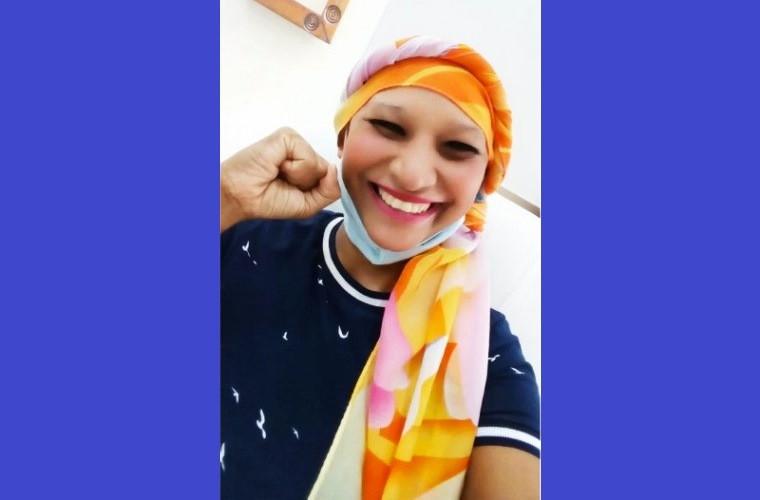 Jaqueline finalizou as sessões de quimioterapia
