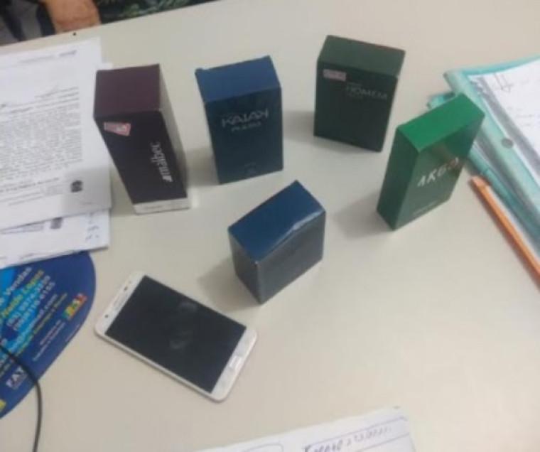 Perfumes recuperados pela Polícia Civil