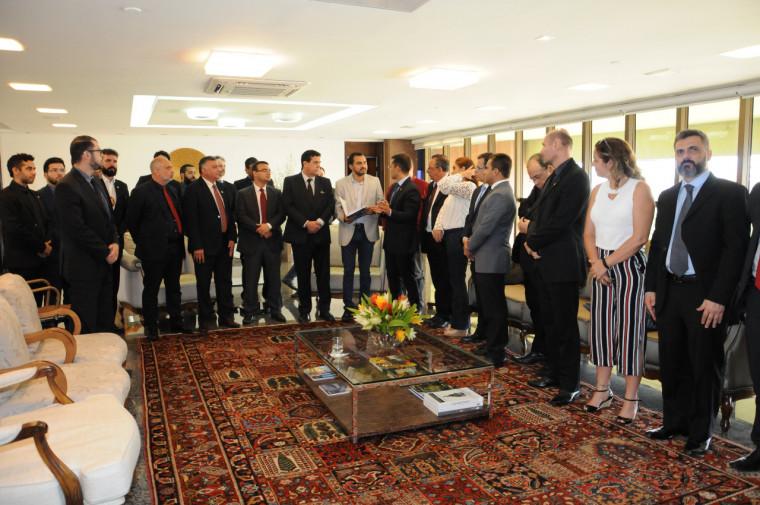 Delegados são recebidos pelo vice-governador no Palácio Araguaia