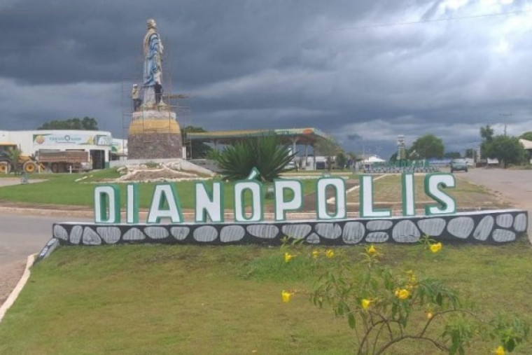 Dianópolis, a principal cidade no sudeste do Tocantins