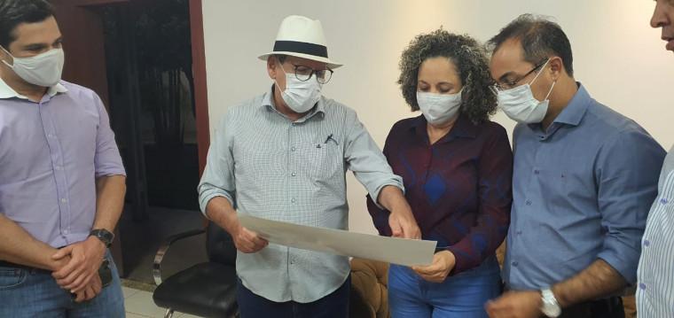 Dimas também fez uma visita de cortesia à prefeita de Gurupi, Josi Nunes