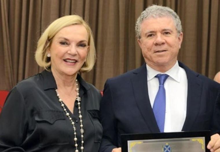Empresário Celso Silveira Mello Filho e a esposa Maria Luiza Meneghel