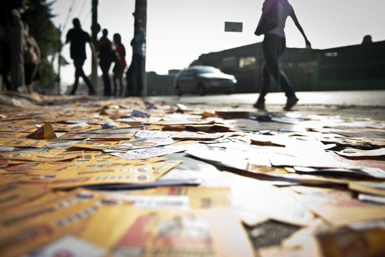 MPE também alertou quanto à poluição das ruas com santinhos