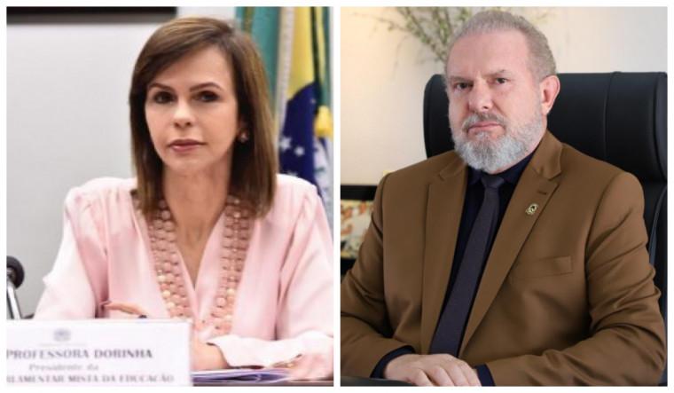 Professora Dorinha e governador Carlesse são adversários políticos
