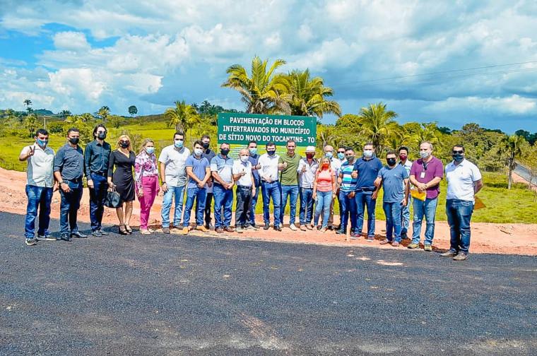 Lançamento de obras em Sítio Novo do Tocantins