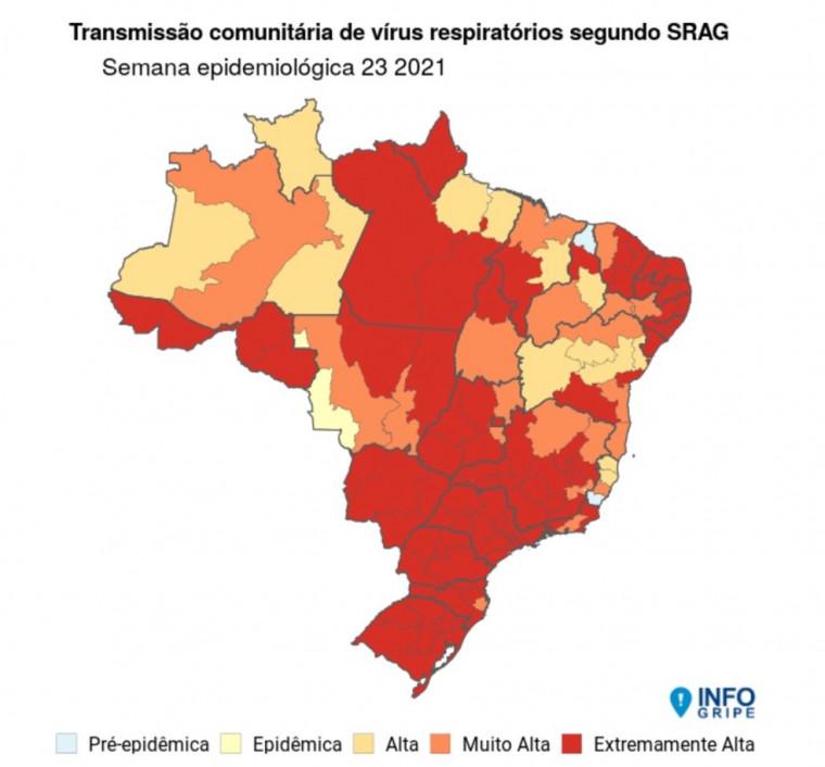 Região Norte do Tocantins está entre os pontos de alta transmissão da Covid.