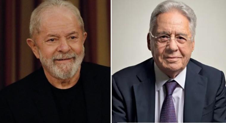 Ex-presidente Lula (esq.) e Fernando Henrique Cardoso