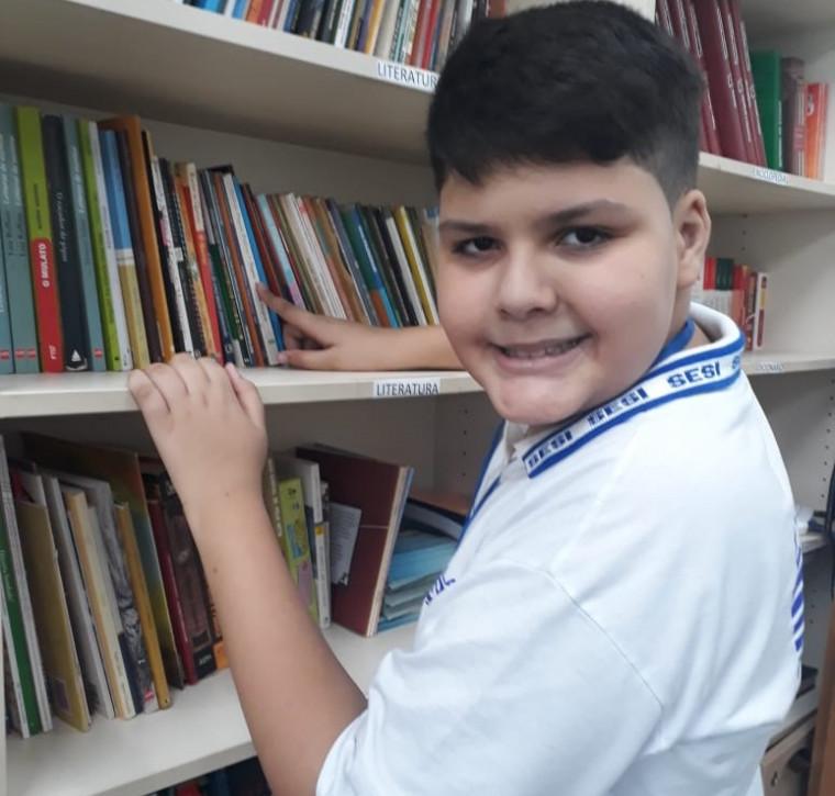 Enzo Souza, de 11 anos, aluno do SESI de Araguaína