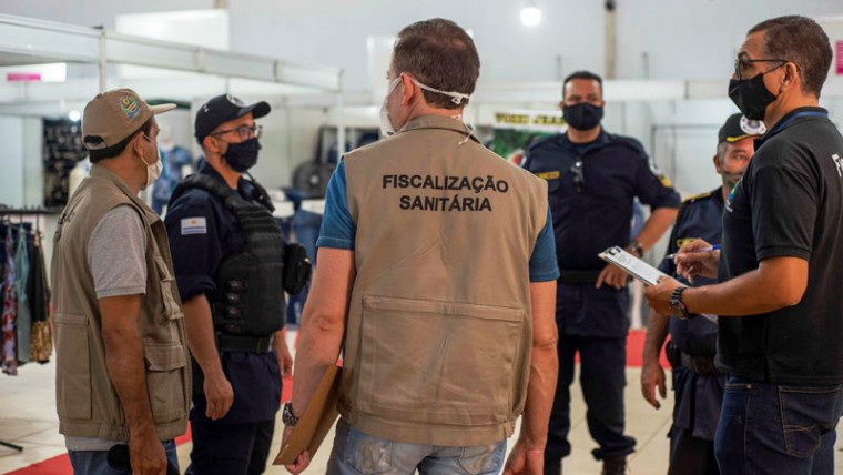 Fiscalização conjunta no Hangar Eventos, em Palmas