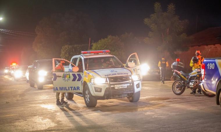 A Polícia Militar também participou da ação