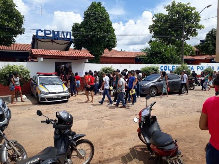 Local de prova na cidade de Araguatins, norte do Estado