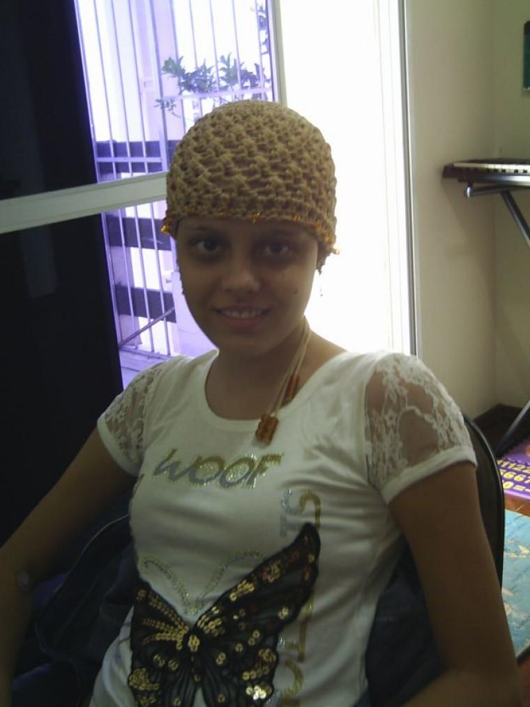 Jovem durante tratamento