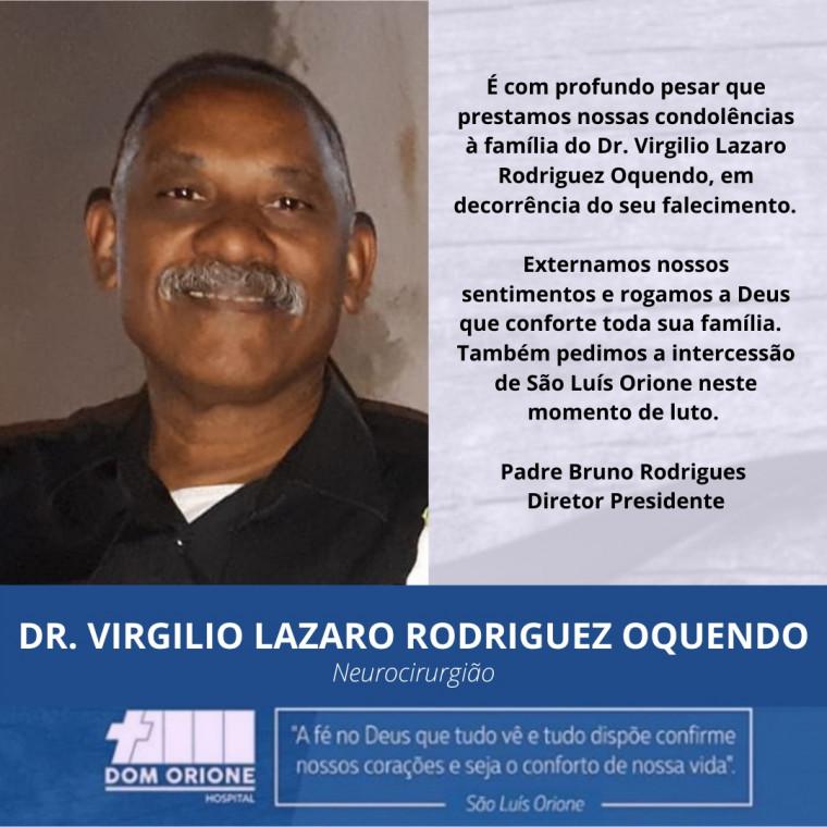 Nota de pesar do Hospital Dom Orione (HDO)