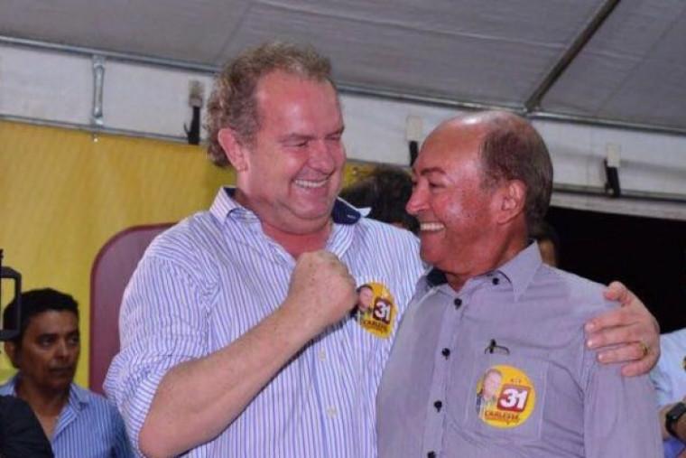 Lázaro Botelho e Carlesse juntos na eleições de 2018