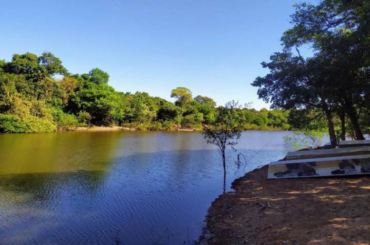 Rio Lorotizinho, um dos pontos de pesca do município de Lagoa da Confusão