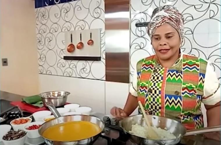 Ruth Almeida em programa de TV