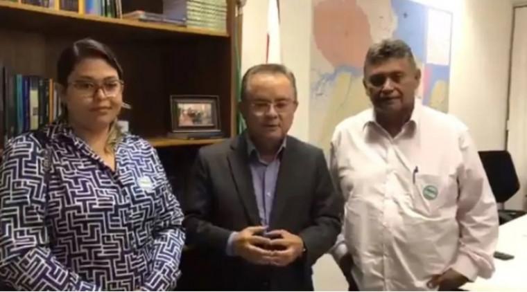 Senador Zequinha Marinho (PSC-PA), ao lado do empresário Jassonio Costa Leite